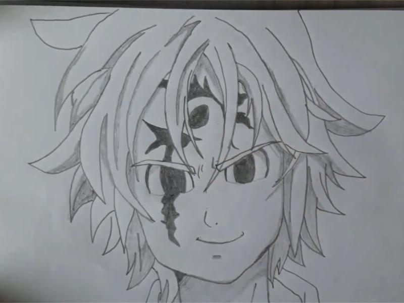 Meliodas Como Desenhar O Personagem De Nanatsu No Taizai Fácil